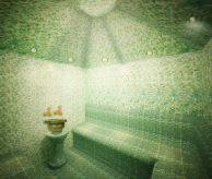 Дизайн-проект хамама в зелёных тонах