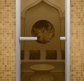 Стеклянная дверь в турецкую баню Aldo