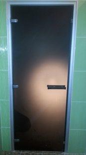 Стеклянная дверь в турецкую баню Российского производства