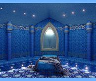 Дизайн-проект хамама в синих тонах