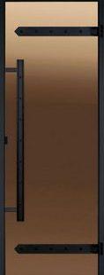 Стеклянная дверь для сауны или бани Harvia Legend Black